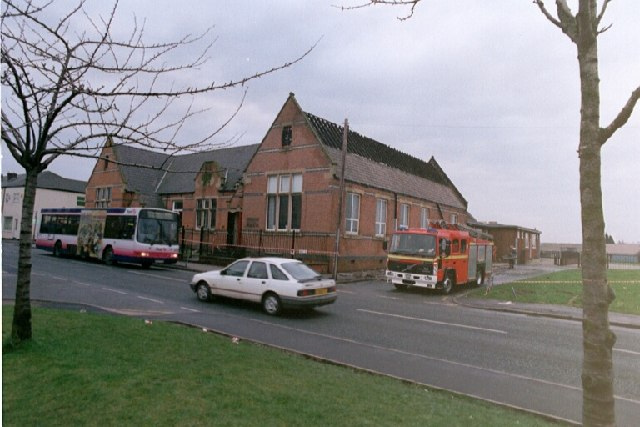 St. John's Church School, Hindley Green, after the fire