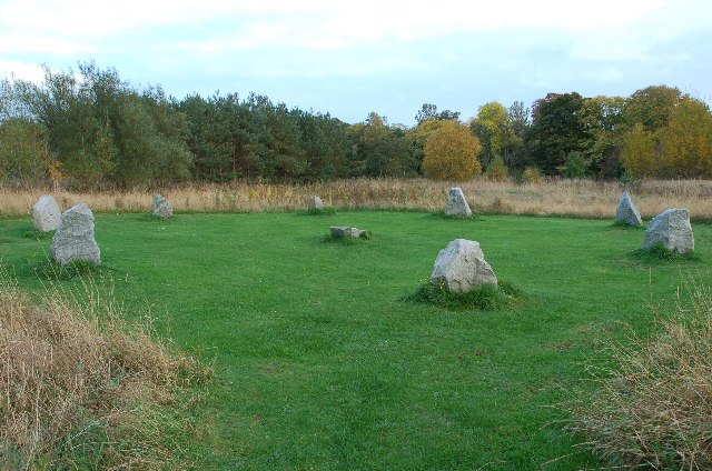 Haughton Park Stone Circle beside River Don