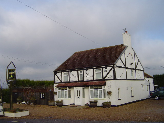 The Plough pub, Milk and Water Drove, west of Pondersbridge