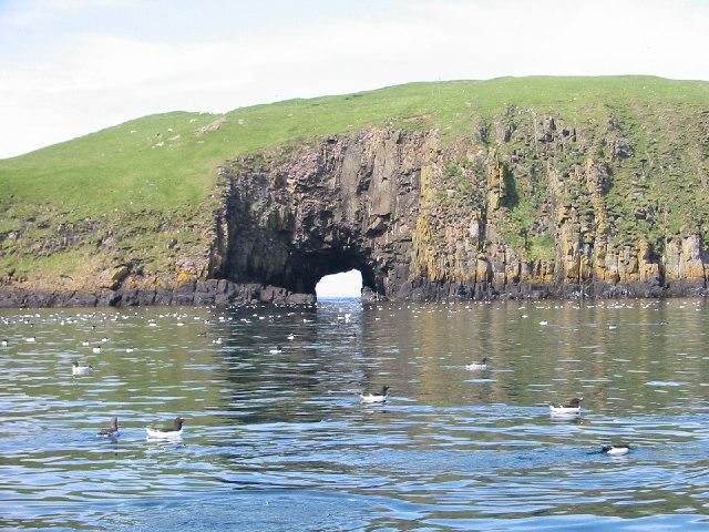 Cave on Garbh Eilean, Shiant Isles