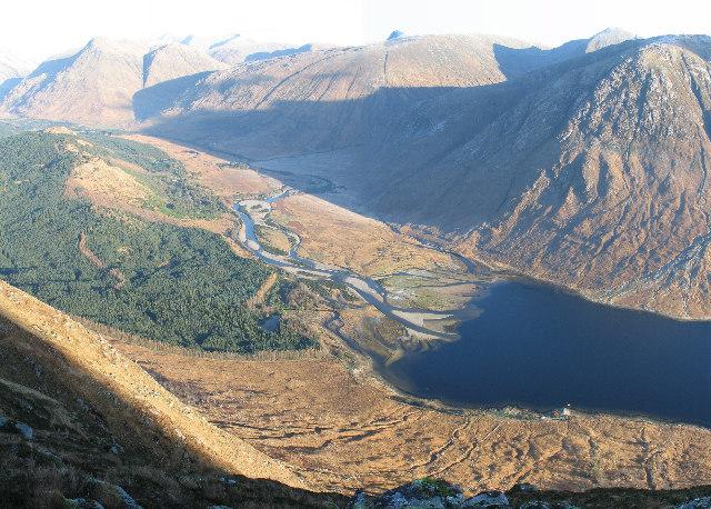 River Etive and Loch Etive from Beinn Trilleachan