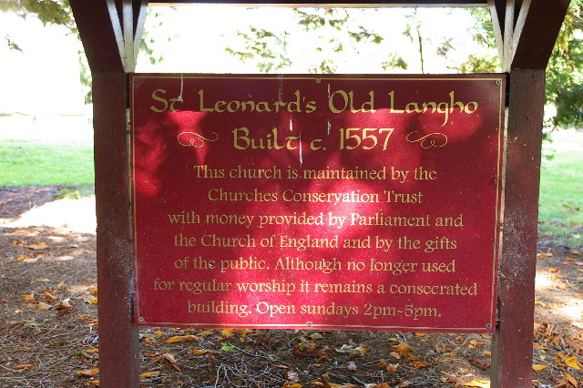 Notice Board for St Leonard's Church