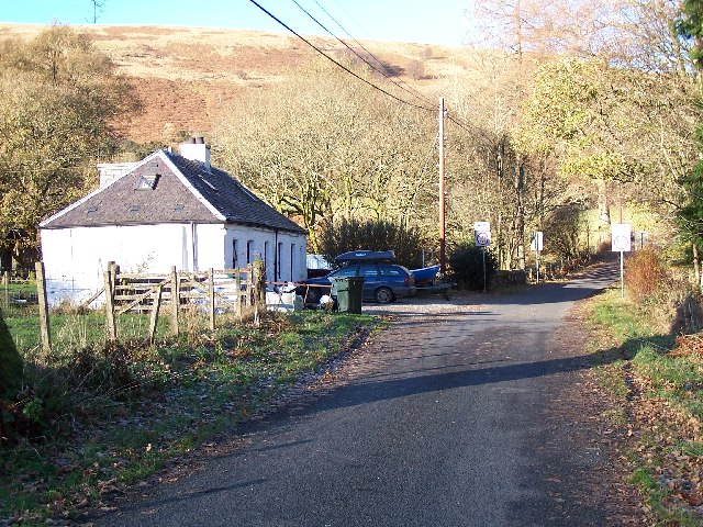 Farmhouse, and Bridge over Sluane Burn