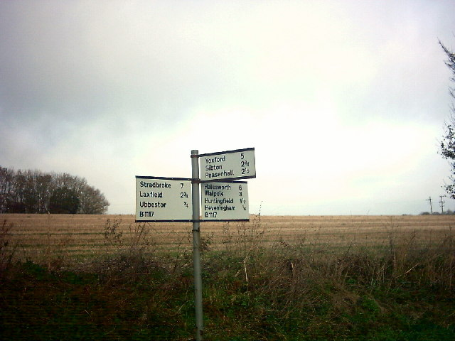 Roadsign On the B1117