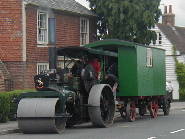 A steam roller at Rolvenden