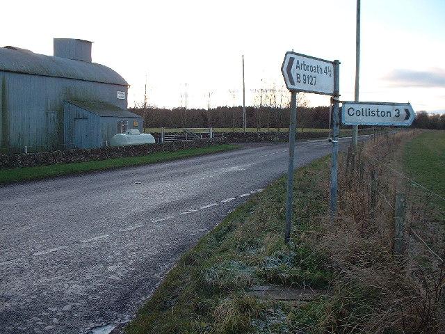 Junction at Denhead of Arbirlot