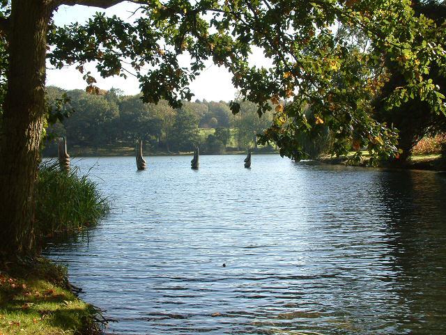 Lake at Burghley House