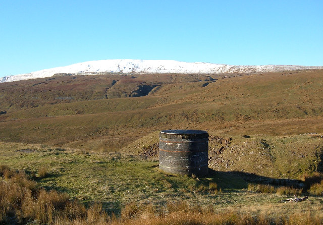 Air shaft above Blea Moor tunnel