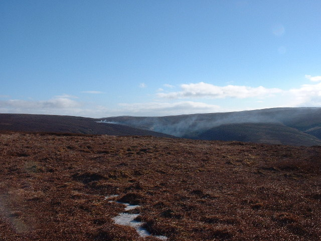 Burning Heather Stake House Fell