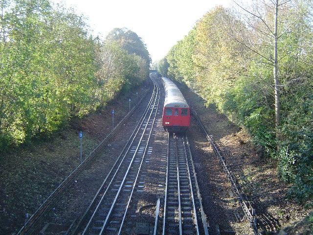 Metropolitan Line railway at Eastcote