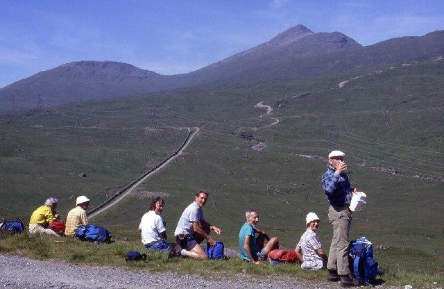 Pipeline in remote Gleann nan Caorann