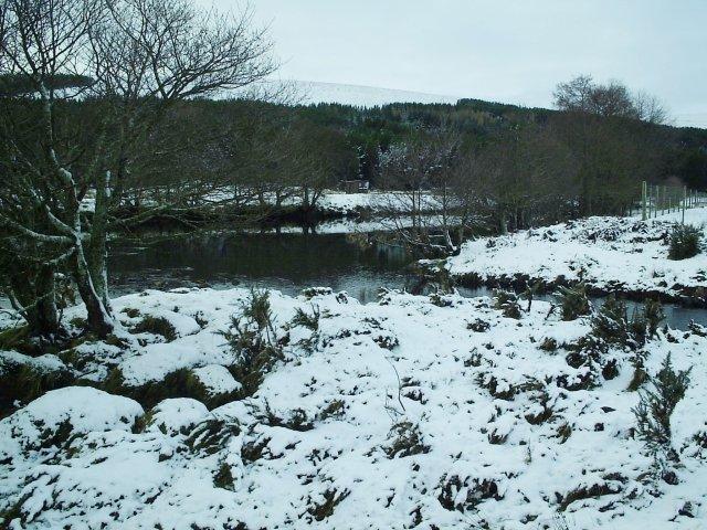 Allt an Rasail flowing into the River Cassley