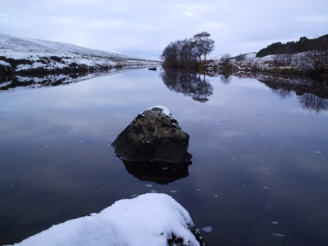 Looking up the River Cassley