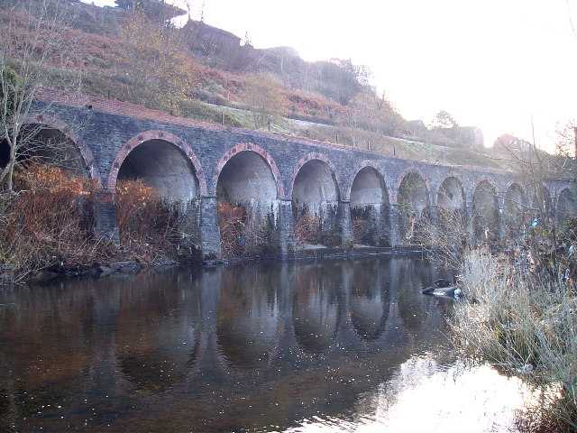 Retaining Railway Viaduct on branch to Merthyr Vale Colliery