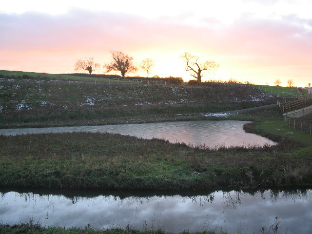 Sunset over Rodden Brook
