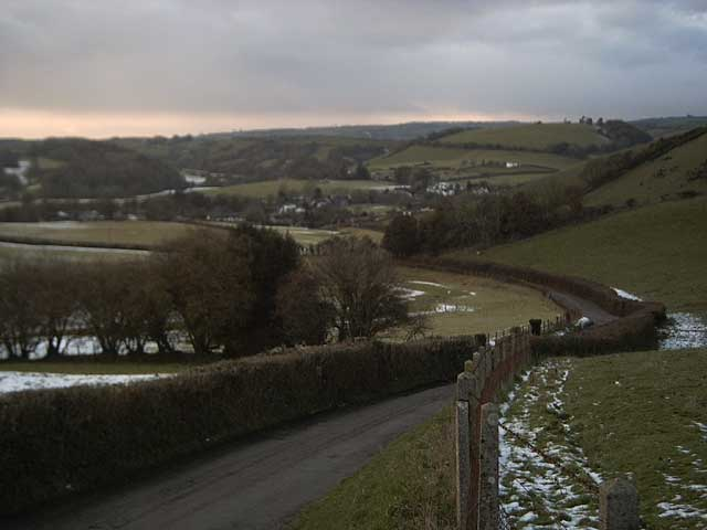 View toward Exebridge from Coldharbour Farm