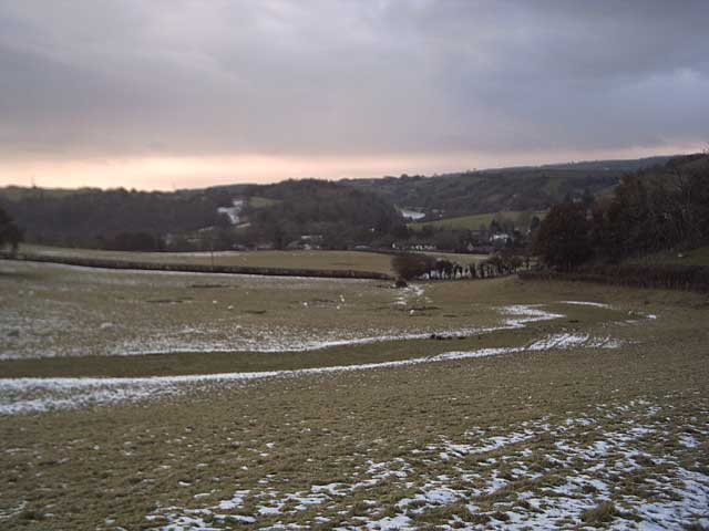 Farmland near Exebridge.