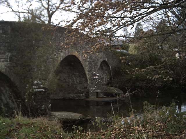 The north side of Exe Bridge, Exebridge
