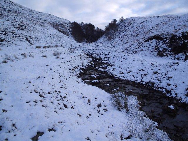 A Snowy Footpath To Carn nam Bo Maola