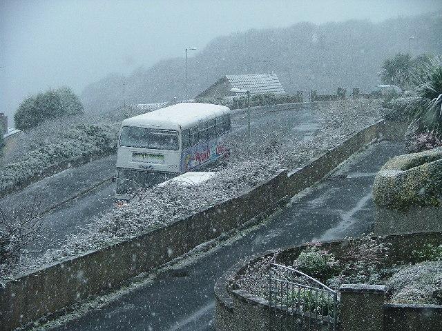 Wembury Bus Terminal - In Snow