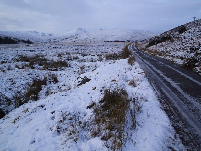 Glencassley Road In the Snow