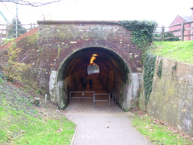 North East end of Newport, Railway tunnel.