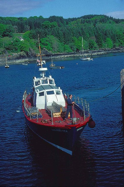 "Ferry Boat ""Shearwater"" at old Pier, Armadale, Isle of Skye"