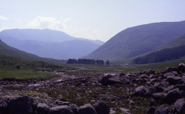 Down towards Glenkinglass Lodge