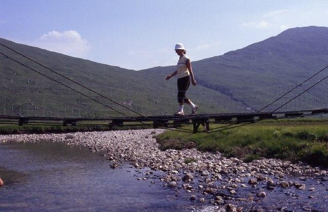 Footbridge across the River Kinglass