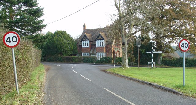 Road Junction on SW side of Maplehurst, West Sussex