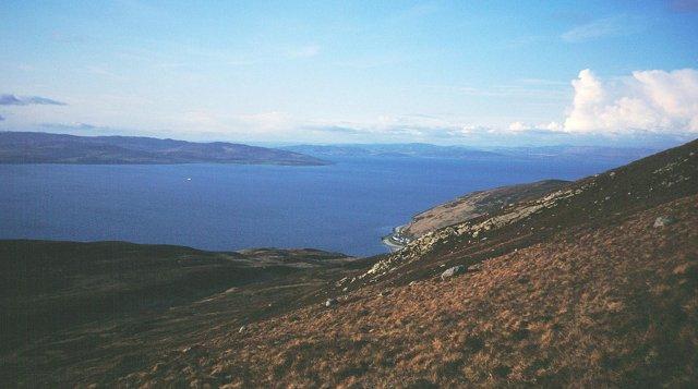 Slopes of Meall nan Damh.
