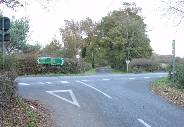 Junction of A272 and Kentstreet Lane, West Sussex