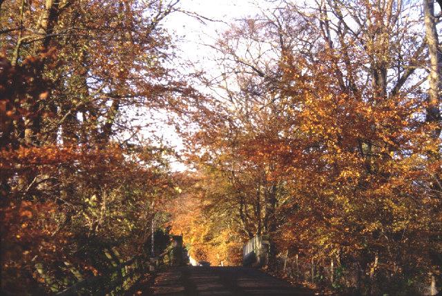 Bridge over the old Deeside Rlwy line on Pitfodels Station Rd.