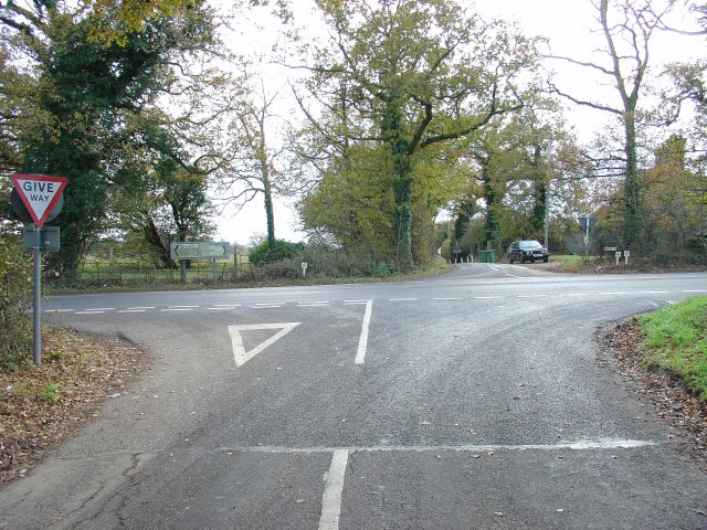 Peartree Corner: Junction of A272 and Burnthouse Lane, West Sussex.