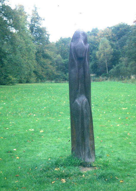 Carved Post in The Carrs, Wilmslow.