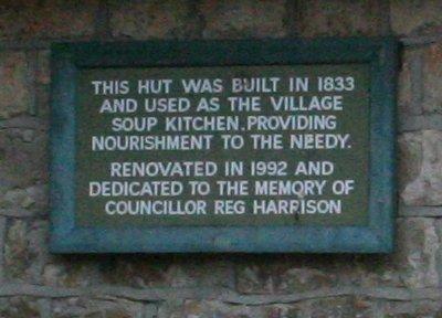 Inscription on old soup kitchen