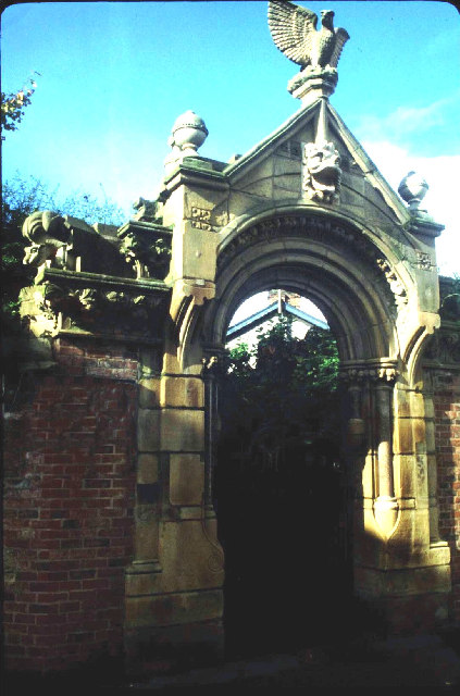 Entrance to The Old Parsonage Garden, Didsbury.