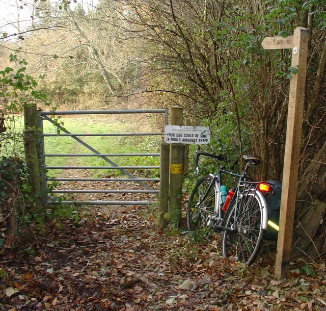 Gate on Bridleway from Nuthurst to Elliotts Farm (Copsdale), West Sussex.