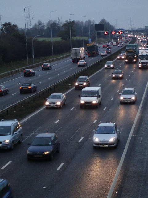 Early Morning Traffic on the M42 Motorway