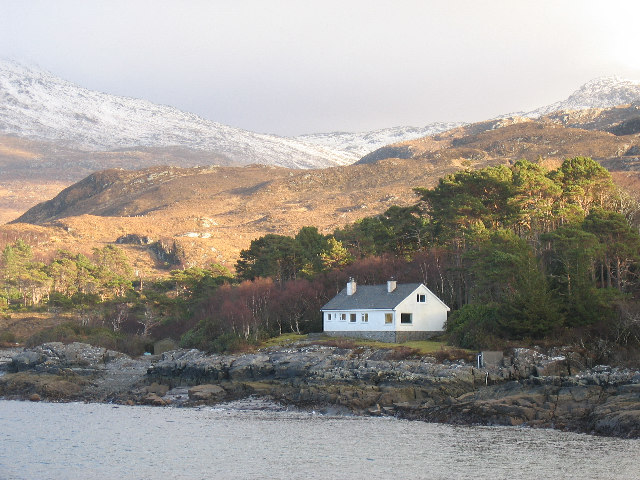 A remote house on the shore of Loch Ailort