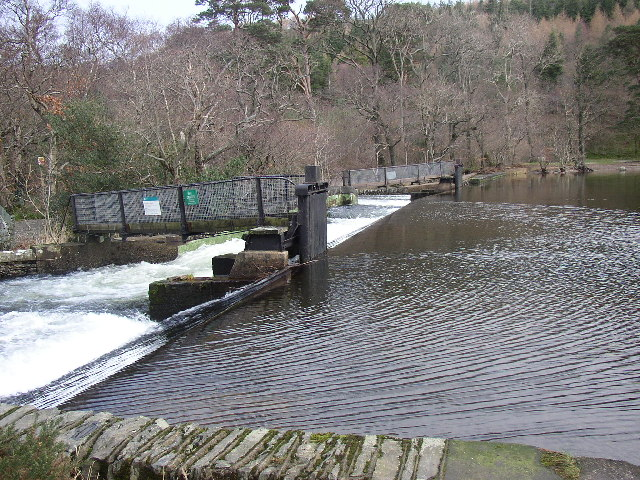 Weir at the end of Crummock Water, Brackenthwaite