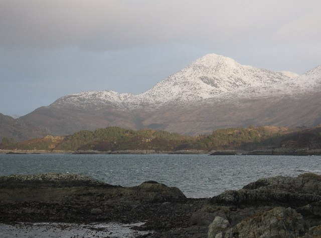 An Stac from the mouth of Loch Ailort