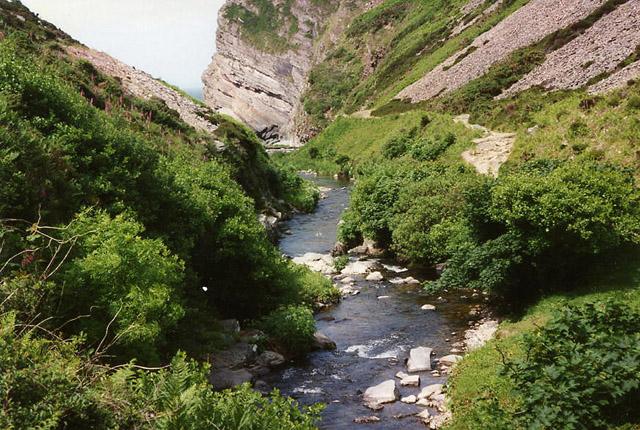 Trentishoe: River Heddon