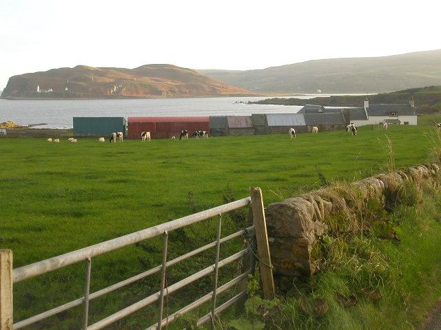 Low Smerby Farm looking towards Davaar Island.