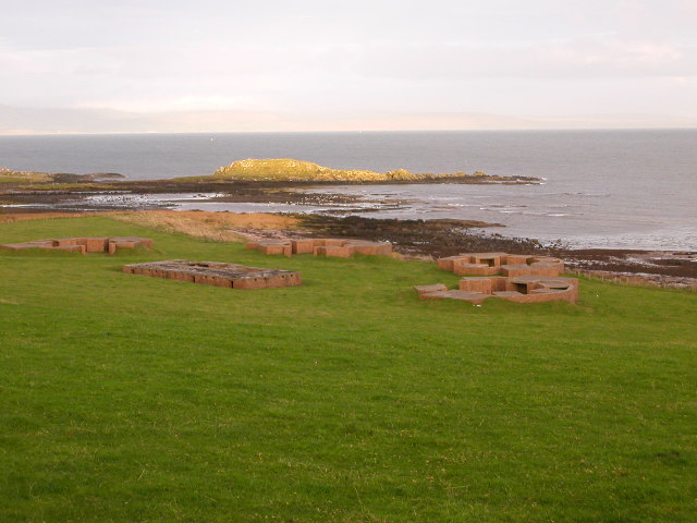 Aircraft gun battery at Kilchousland, by Campbeltown.
