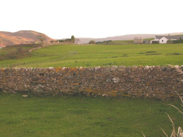 Cemetery and croft at Kilchousland, by Campbeltown.