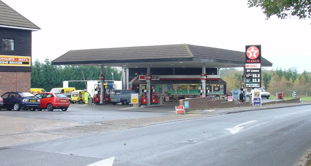 Petrol Station on A281 (Brighton Road) NW of Mannings Heath, West Sussex.