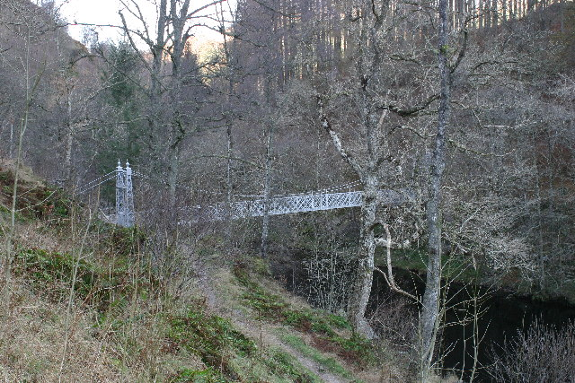Coronation Bridge over River Tummel