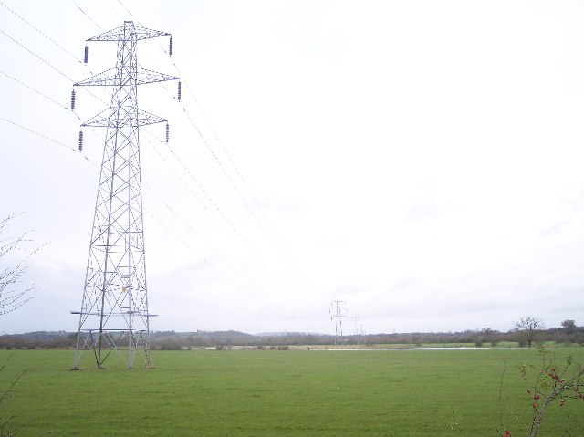 Power Lines over Ashleworth Ham
