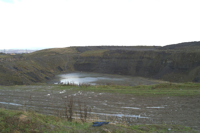 Opencast mine beside the M6
